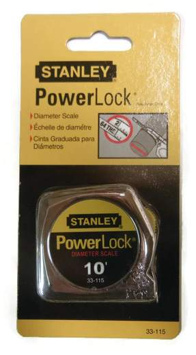 10 ft. Stanley Power Lock Tape Measure 33-115 Diameter Scale (pi scale) (ST33-115)