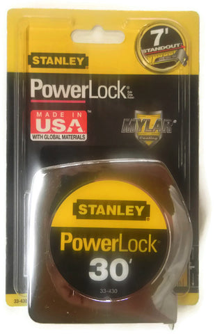 30 ft. Stanley Power Lock Tape Measure 33-340