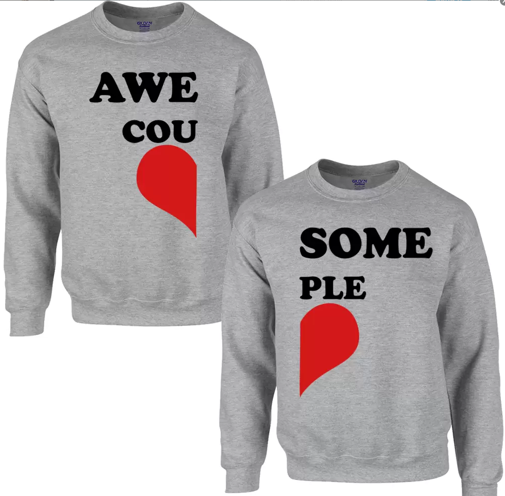 Awesome Couple Sweatshirts For Men &Amp; Women