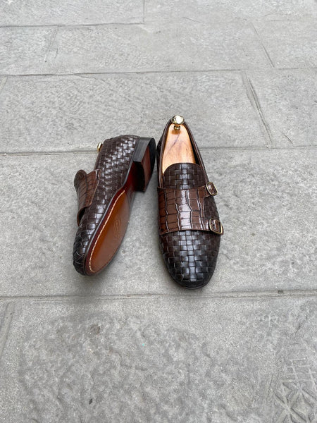 Bruin woven loafers - Papyon.be