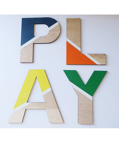 Color Block PLAY Letters (Boy)