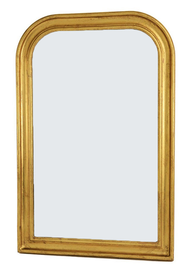 Gold Louis Philippe Wall Mirror, Small