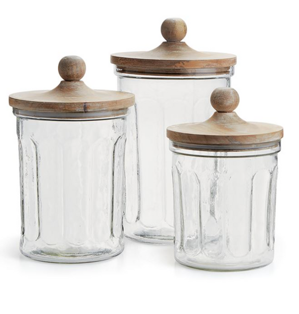 Olive Hill Canisters, Set of 3