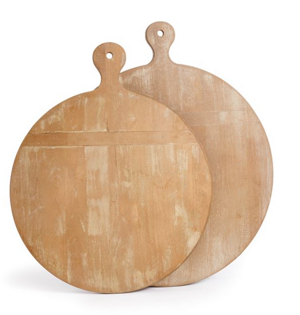 Antique Round Cutting Boards, Set of 2