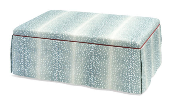 Lily Large Rectangular Skirted Ottoman