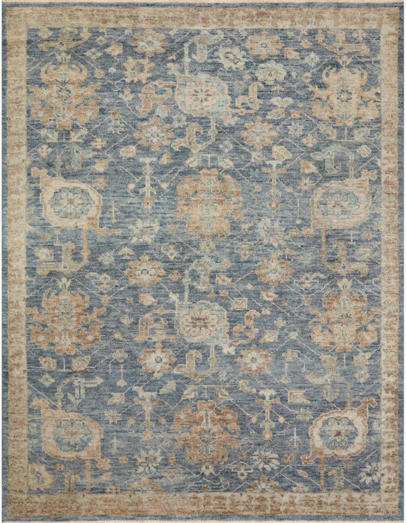 Helena Rug in Indigo and Taupe