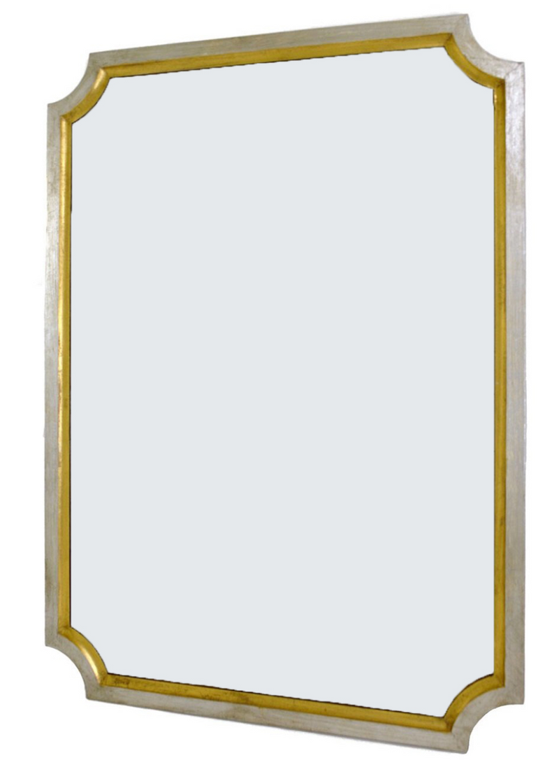 Silver and Gold Wall Mirror