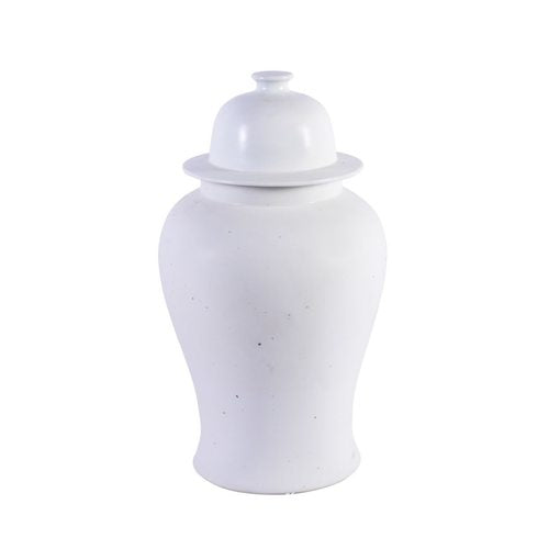 Matte Glaze White Temple Jar