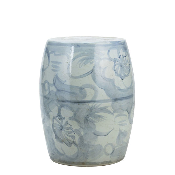 Blue & White Silla Porcelain Garden Stool