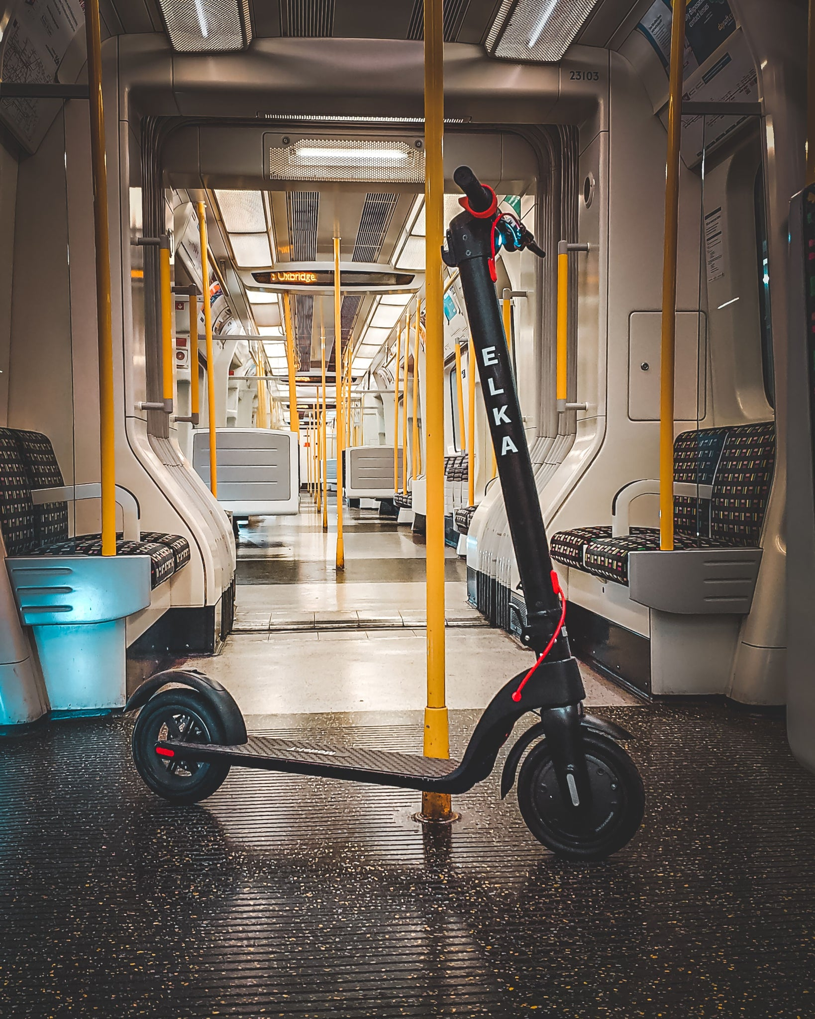 scooter on tube