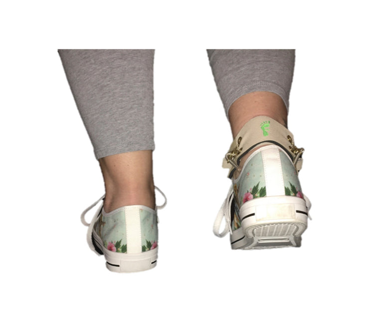 Freedom Walk AFO Beige Free Flex Drop Foot Brace Back View
