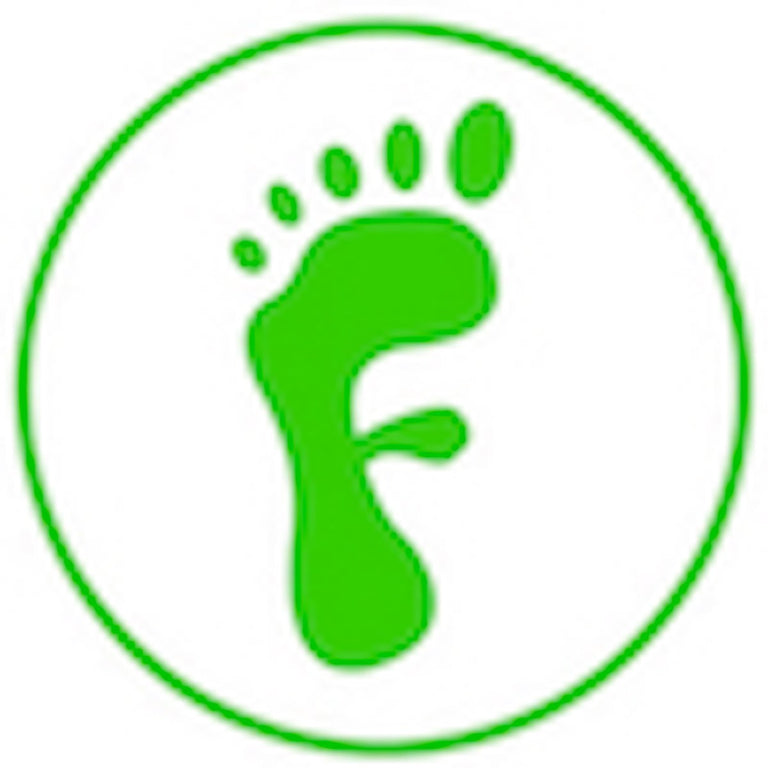Freedom Walk AFO Free Flex Drop Foot Braces Logo of a Green Foot in the form of the letter F and a green circular border and white fill