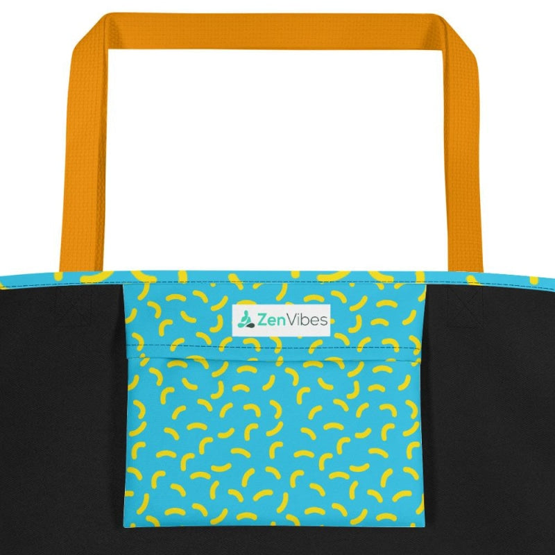 Abstract Banana Beach Bag