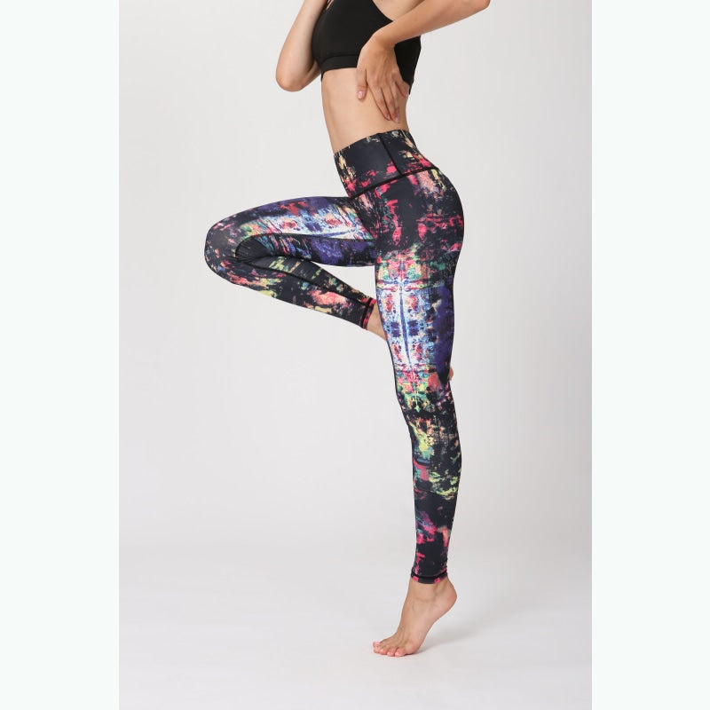 Abstract Palette Yoga Pants - S