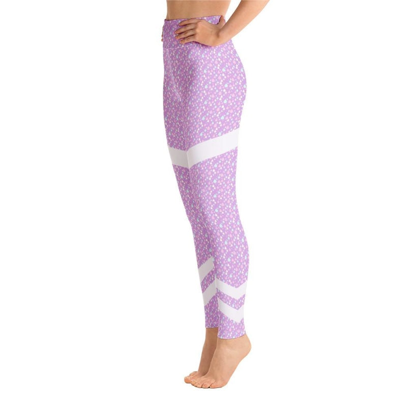 Abstract Raindrops Yoga Pants