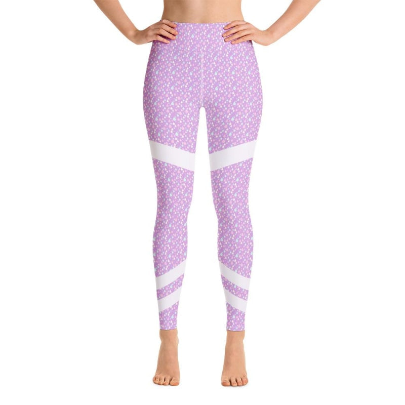 Abstract Raindrops Yoga Pants - XS