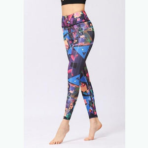 Abstract Triangle Yoga Pants - S