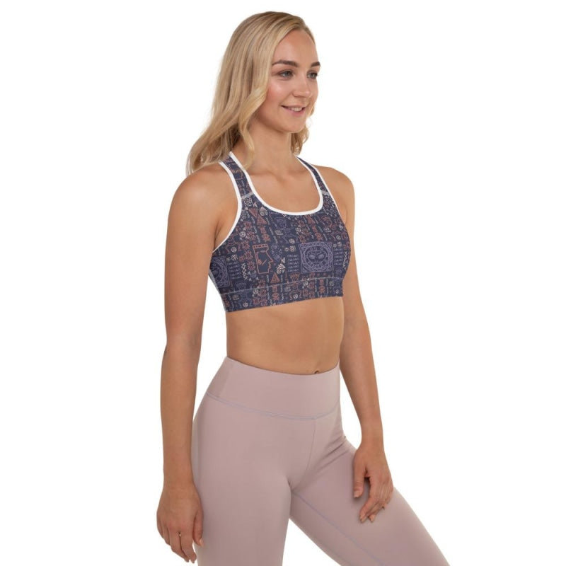 Aztec Tribal Padded Sports Bra