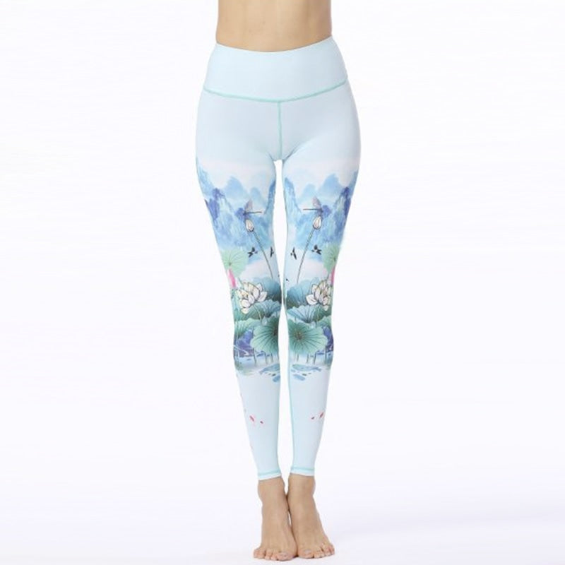 Blue Mountain Lotus Yoga Pants