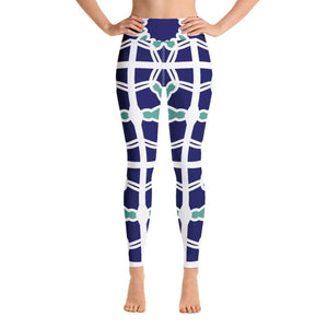 Blue&Mint Abstract Yoga Pants - XS