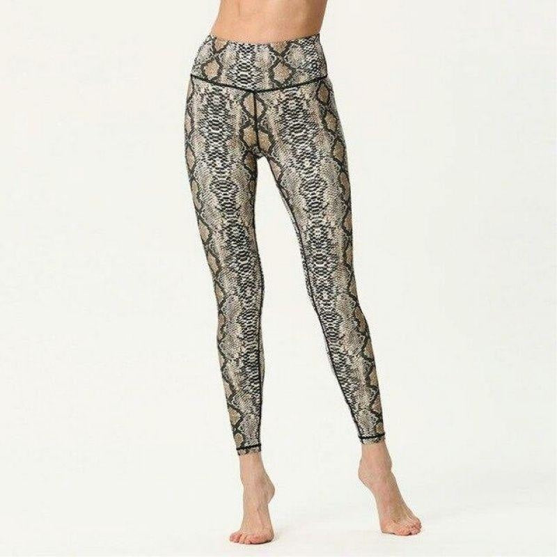 Brown Python Yoga Pants - M