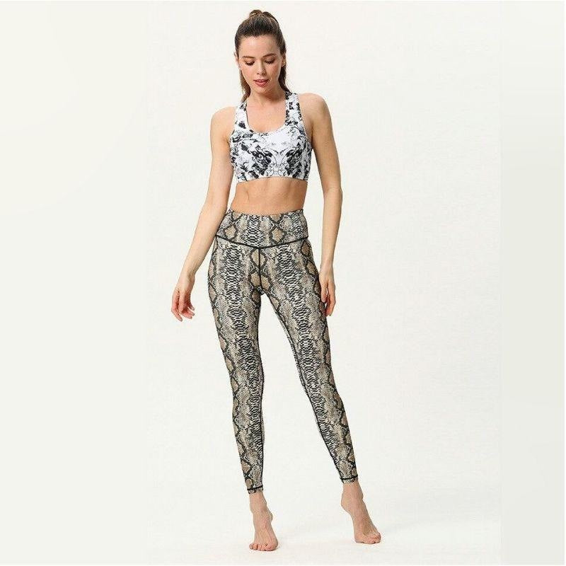 Brown Python Yoga Pants