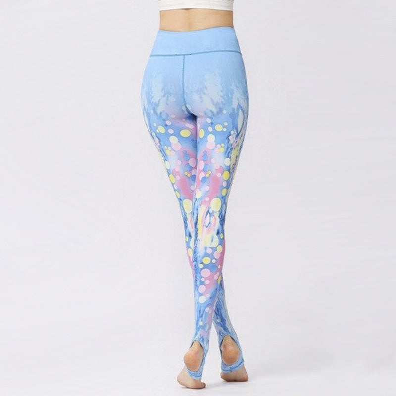 Colorful Bubbles Blue Yoga Pants