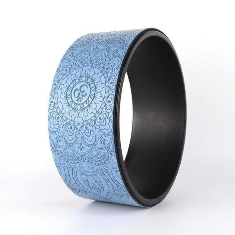 Colorful OM Yoga Wheels - Light blue