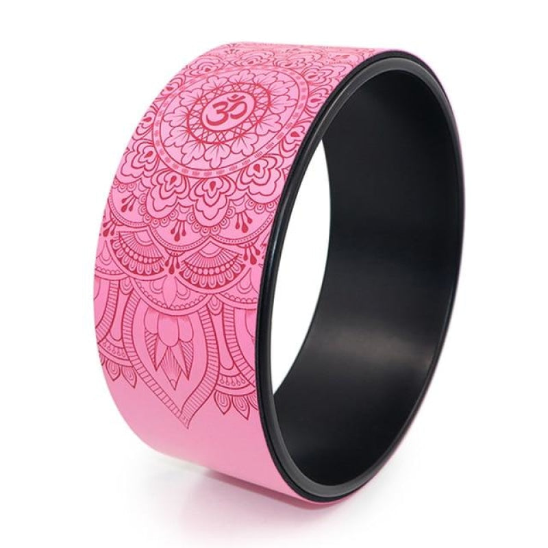 Colorful OM Yoga Wheels - Pink
