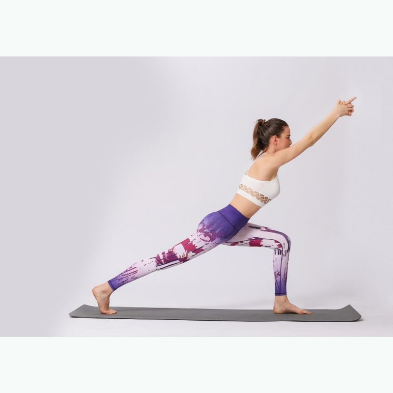 Gradient Abstract White & Purple Yoga Pants