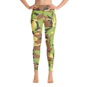 Green Camo Yoga Pants - XS