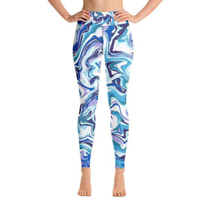 Marble Blue Yoga Pants - XS