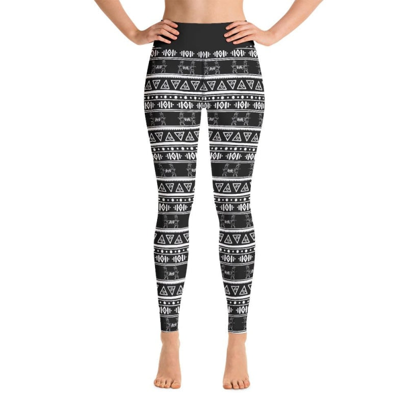Maya Tribal Black Yoga Pants - XS