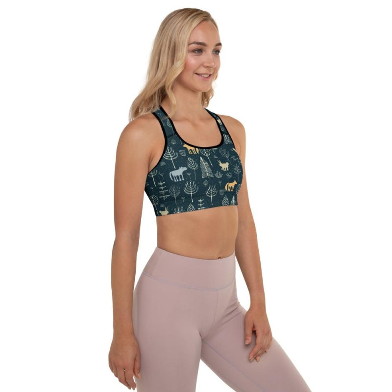 Mysterious Forest Padded Sports Bra