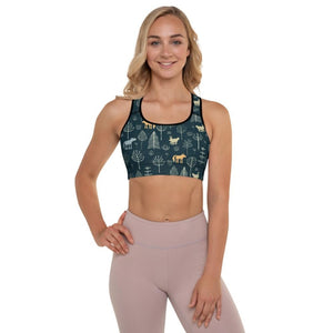 Mysterious Forest Padded Sports Bra - XS