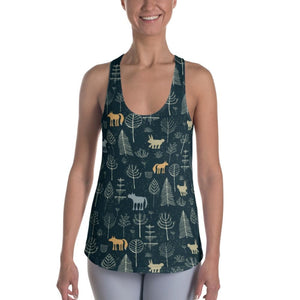 Mysterious Forest Women's Racerback Tank - XS