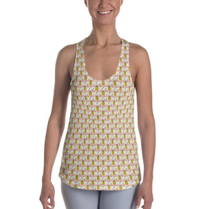 Peach&White Pineapple Women's Racerback Tank - XS