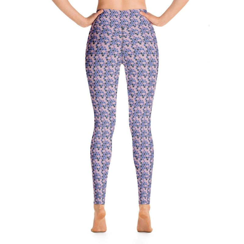 Purple Cells Yoga Pants