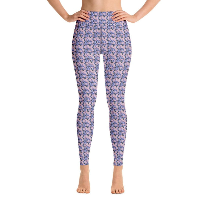 Purple Cells Yoga Pants - XS