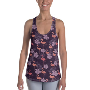 Purple Flamingo Women's Racerback Tank - XS