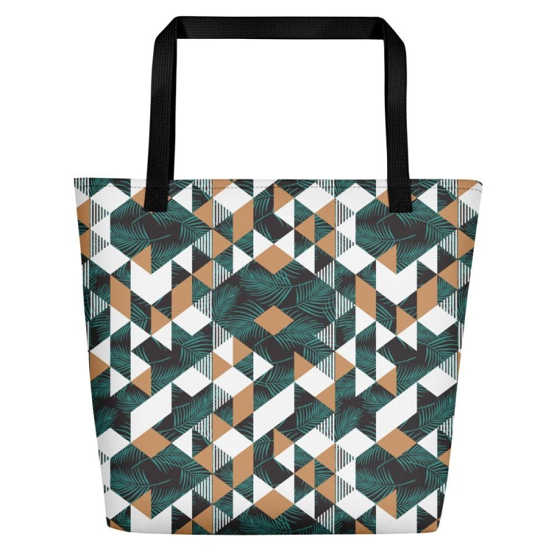 Tropical Geometric Beach Bag