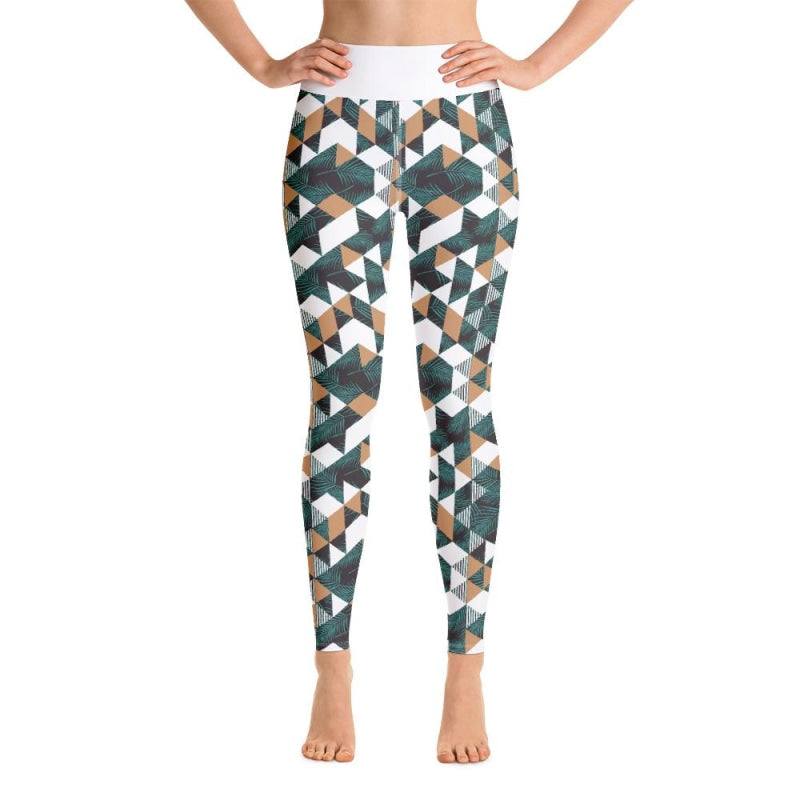 Tropical Geometric Yoga Pants - XS