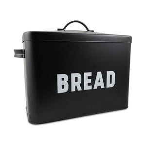 Black Large Metal Bread Box