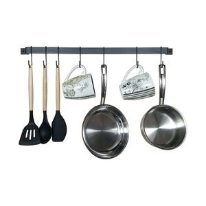 Kitchen Rail Utensil Organizer & Mug Rack