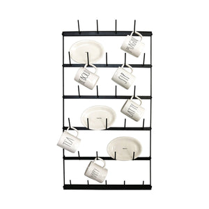 Large Metal Wall Mug Rack