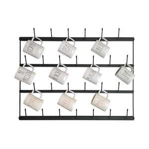 Horizontal Wall Mug Rack
