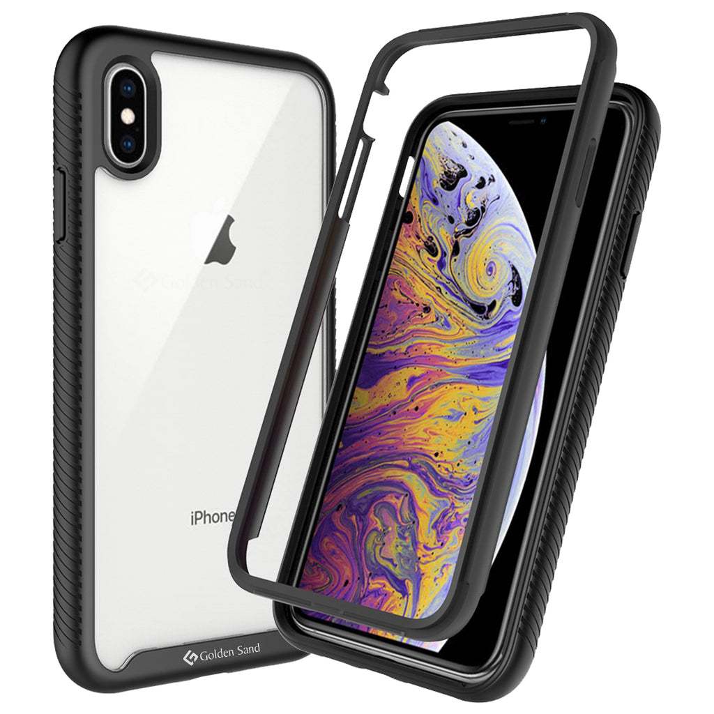 Apple, Back Cover, Drop Tested, TPU (Rubber), black, full body pro, ₹500 - ₹699, PolyCarbonate (Plastic), Ultra Protection, iphone XS max, , Transparent