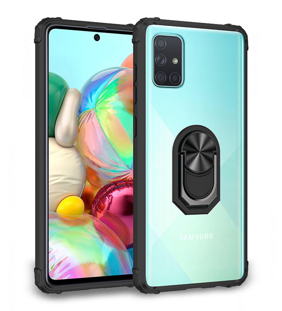 Back Cover, black, Clear Ring Series, Drop Tested, galaxy a71, Magnetic, PolyCarbonate (Plastic), samsung, Slim Design, TPU (Rubber), Transparent, ₹500 - ₹699