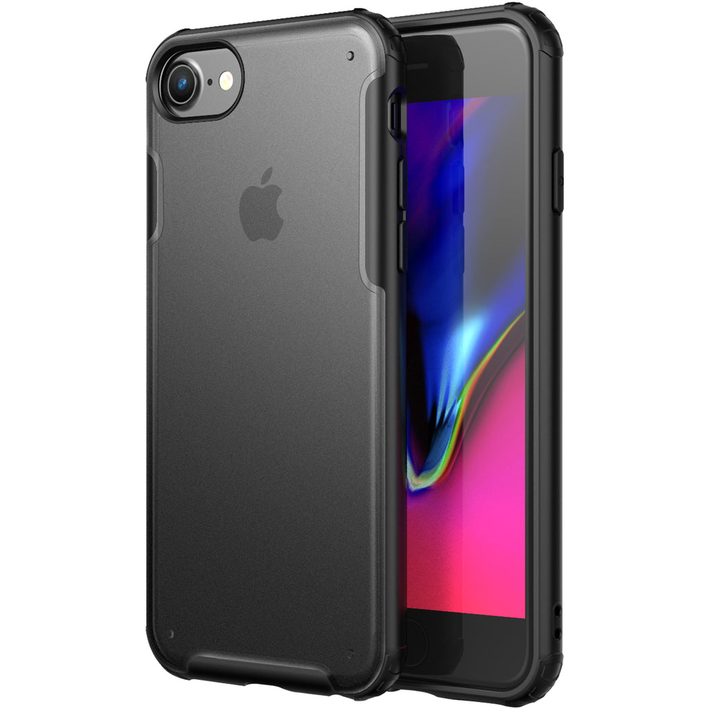 Apple, Back Cover, Drop Tested, TPU (Rubber), black, iphone 6, iphone 6s, iphone 7, iphone 8, iphone SE 2020, Rugged Frosted, ₹500 - ₹699, PolyCarbonate (Plastic), Slim Design, translucent