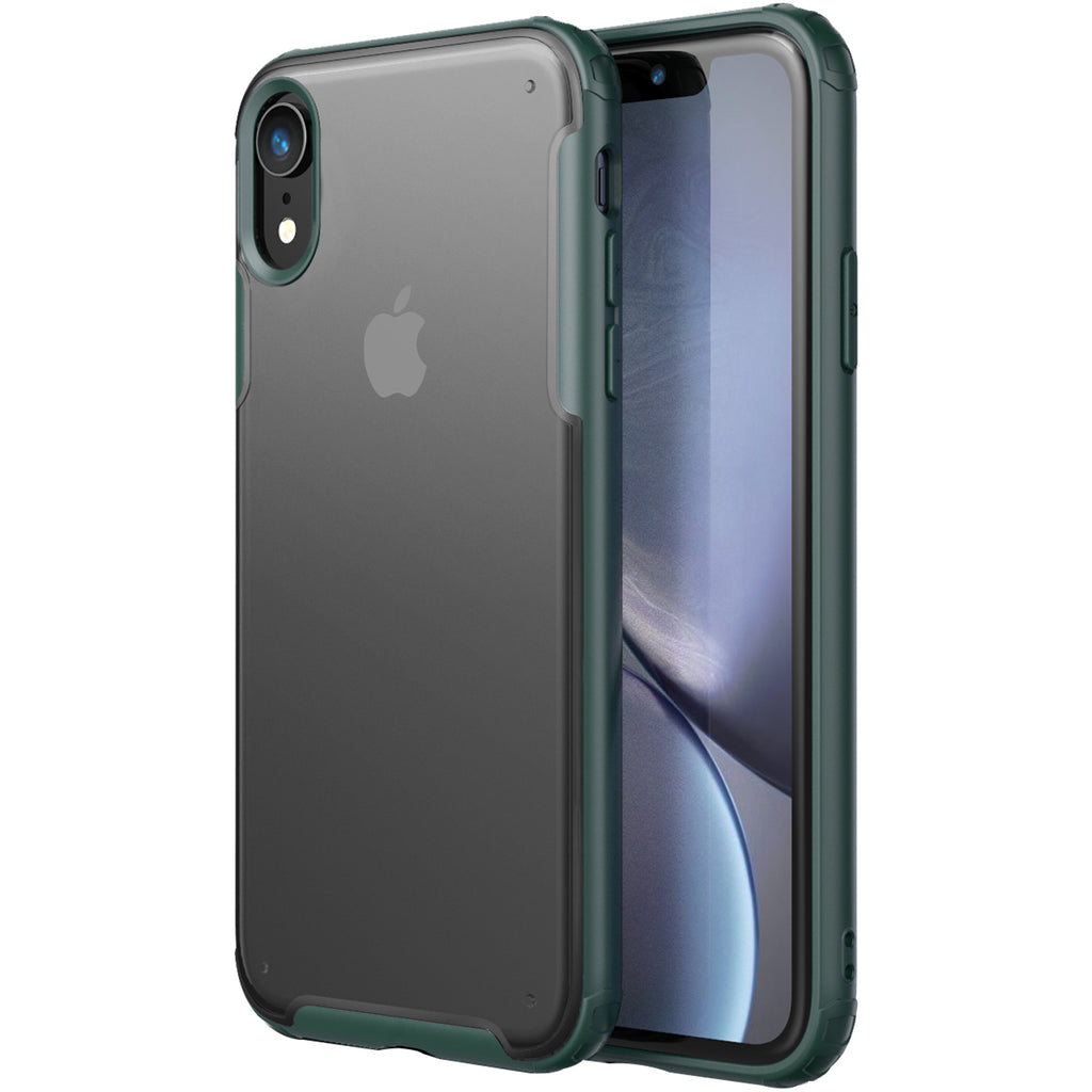 Apple, Back Cover, Drop Tested, TPU (Rubber), green, iphone XR, Rugged Frosted, ₹500 - ₹699, PolyCarbonate (Plastic), Slim Design, translucent